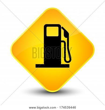 Fuel Dispenser Icon Elegant Yellow Diamond Button