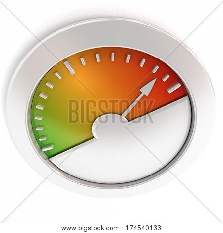 3D rendering of a colorful measuring display