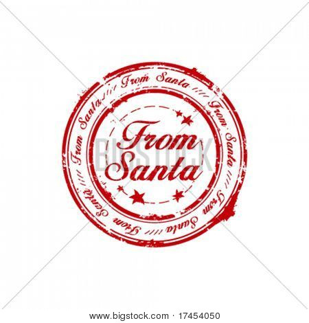 From Santa rubber stamp