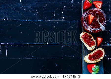 Baguette With Strawberry Jam