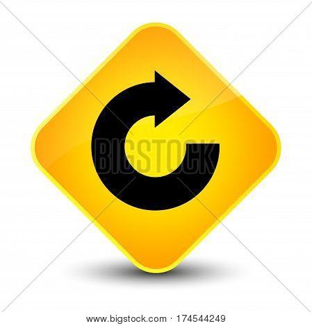 Reply Arrow Icon Elegant Yellow Diamond Button