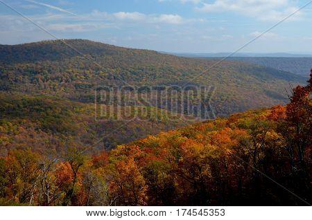 Fall in the Boston Mountains of Arkansas