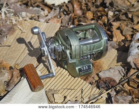 The robust reel for fishing in the sea