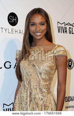 LOS ANGELES - FEB 26:  Jasmine Tookes at the 25the Annual Elton John Academy Awards Viewing Party at the  City of West Hollywood Park on February 26, 2017 in West Hollywood, CA