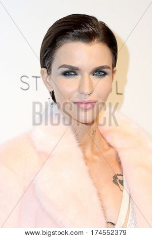 LOS ANGELES - FEB 26:  Ruby Rose at the 25the Annual Elton John Academy Awards Viewing Party at the  City of West Hollywood Park on February 26, 2017 in West Hollywood, CA