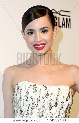 LOS ANGELES - FEB 26:  Sofia Carson at the 25the Annual Elton John Academy Awards Viewing Party at the  City of West Hollywood Park on February 26, 2017 in West Hollywood, CA