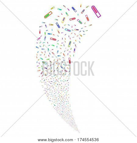 Test Tube random fireworks stream. Vector illustration style is flat bright multicolored iconic symbols on a white background. Object fountain done from scattered pictographs.
