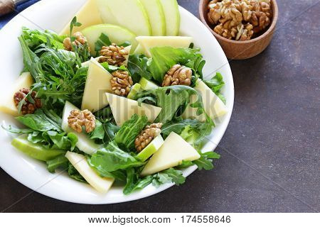 Waldorf salad with apple, cheese and walnuts