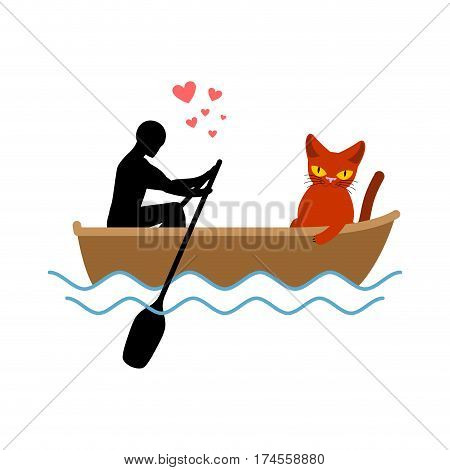 Cat Lover Boat. My Kitty. Lovers Of Sailing. Pet And Guy. Romantic Date