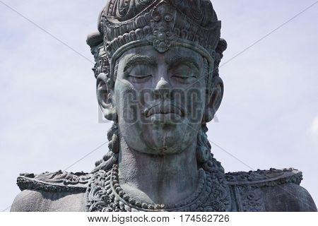 Vishnu statue in GWK cultural park Bali Indonesia a series of images