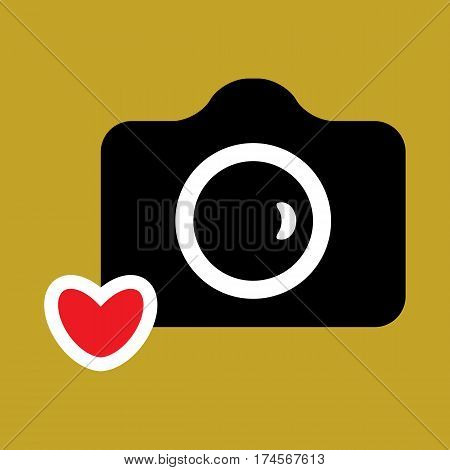 Camera Icon Or Snapshot Photography Concept