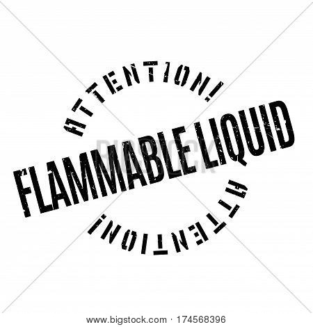 Flammable Liquid rubber stamp. Grunge design with dust scratches. Effects can be easily removed for a clean, crisp look. Color is easily changed.
