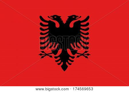 The Official vector flag of Albania .