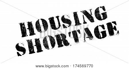 Housing Shortage rubber stamp. Grunge design with dust scratches. Effects can be easily removed for a clean, crisp look. Color is easily changed.
