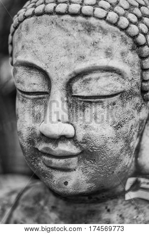 Stunning Buddha Statue Portrait With Shallow Depth Of Field And Blurred Background