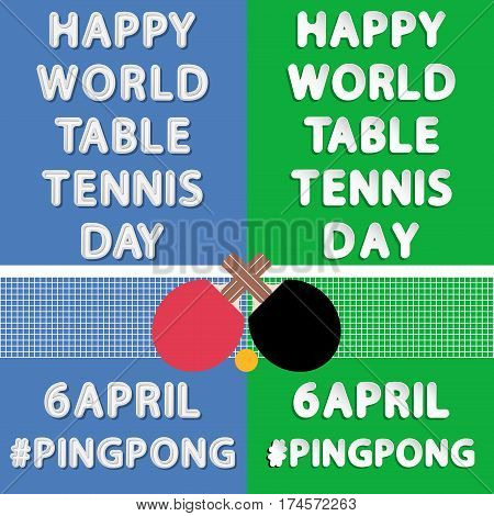 Happy Word Table Tennis Day