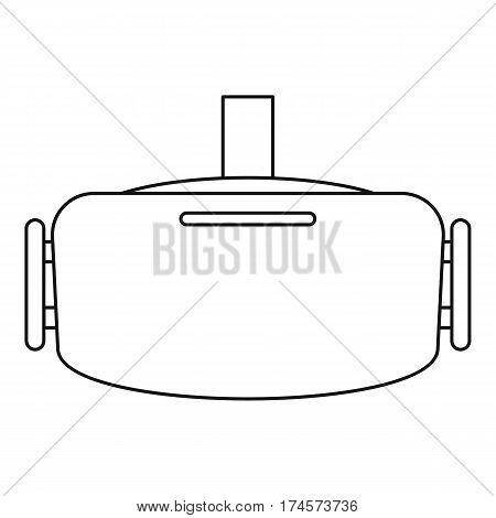 Virtual reality headset icon. Outline illustration of virtual reality headset vector icon for web