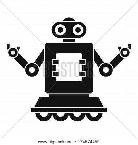 Cyborg on wheels icon. Simple illustration of cyborg on wheels vector icon for web