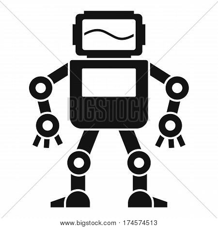 Automatic mechanism with with monitor head icon. Simple illustration of automatic mechanism with monitor head vector icon for web