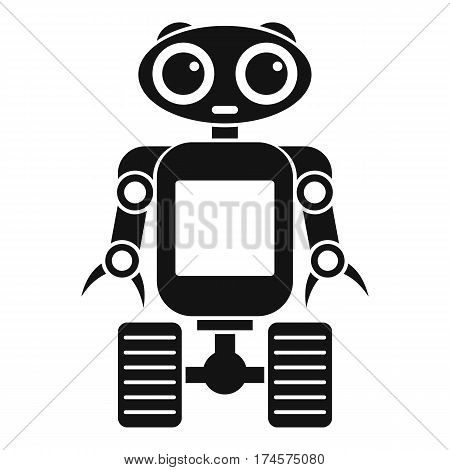 Robot on wheels icon. Simple illustration of robot on wheels vector icon for web