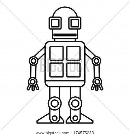 Android robot icon. Outline illustration of android robot vector icon for web