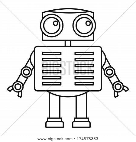 Humanoid robot icon. Outline illustration of humanoid robot vector icon for web