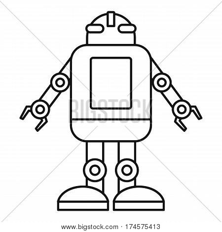 Artificial intelligence concept icon. Outline illustration of artificial intelligence concept vector icon for web