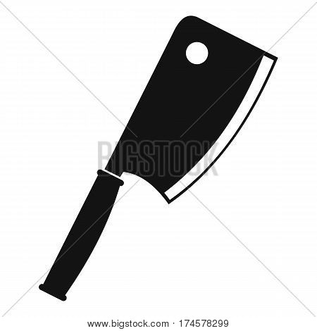 Meat knife icon. Simple illustration of meat knife vector icon for web