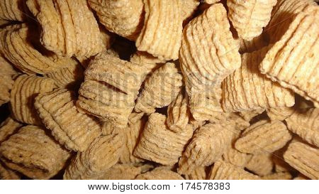 cereal background pattern with shredded wheat grain