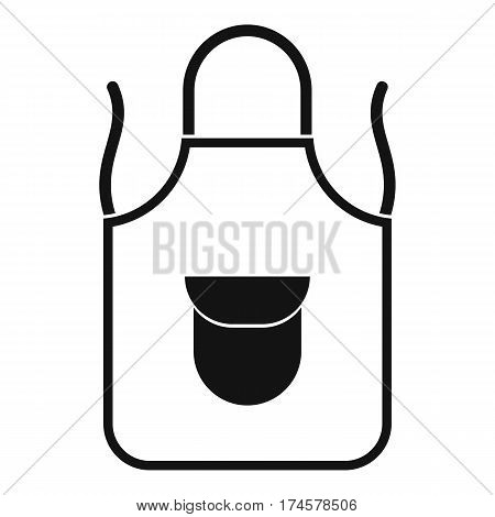 Apron with pocket icon. Simple illustration of apron with pocket vector icon for web