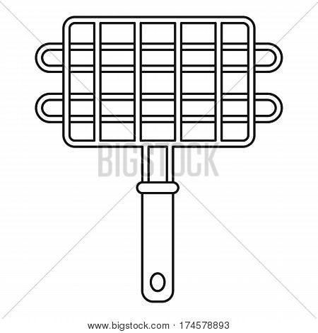 Metal grill for barbecue icon. Outline illustration of metal grill for barbecue vector icon for web