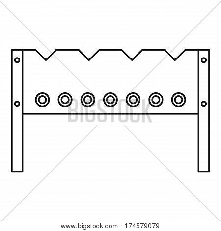 BBQ brazier icon. Outline illustration of BBQ brazier vector icon for web