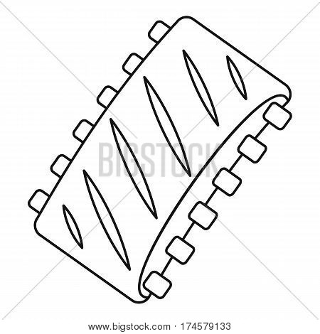 Pork ribs icon. Outline illustration of vector icon for web
