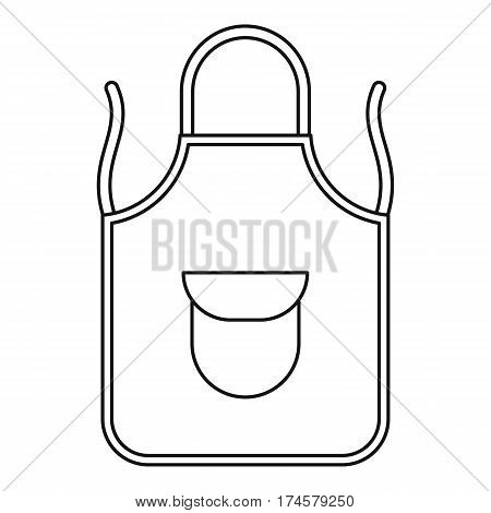 Apron icon. Outline illustration of apron vector icon for web