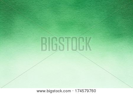Green Watercolor Paper Background Texture. Drops Of Rain On Glass On Green Background. Greenery, Green: Pantone Color - Trend 2017
