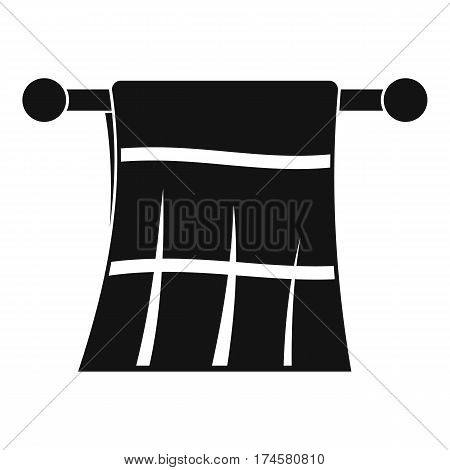 Towel on a hanger icon. Simple illustration of towel on a hanger vector icon for web