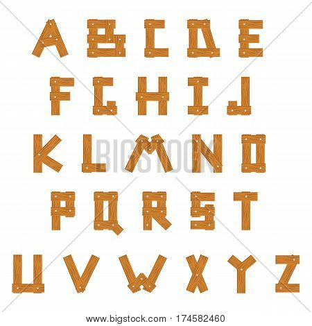 Wooden Alphabet, set with all Letters, ready for your Text Message, Title or Logos Design