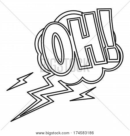 Oh, comic text sound effects icon. Outline illustration of Oh, comic text sound effects vector icon for web