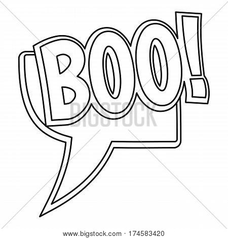 BOO, comic text sound effect icon. Outline illustration of BOO, comic text sound effect vector icon for web