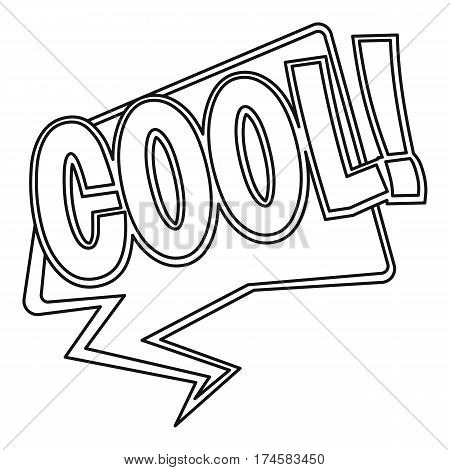 COOL, comic text sound effect icon. Outline illustration of COOL, comic text sound effect vector icon for web