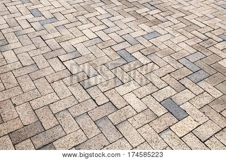 Yellow Gray Cobblestone Road Pavement