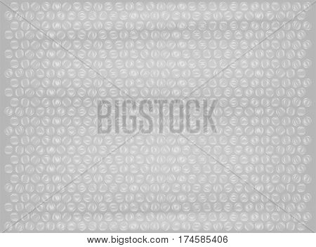 a real plastic bubble wrap background vector