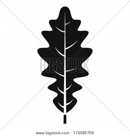 Oak leaf icon. Simple illustration of oak leaf vector icon for web