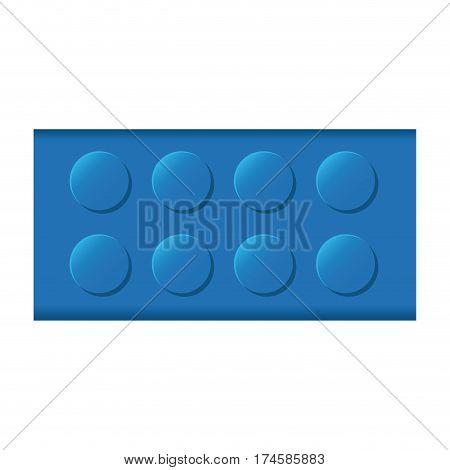 colorful lego rectangle shape block icon toy vector illustration