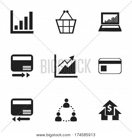 Set Of 9 Editable Analytics Icons. Includes Symbols Such As Banking House, Bank Payment, Equalizer Display And More. Can Be Used For Web, Mobile, UI And Infographic Design.