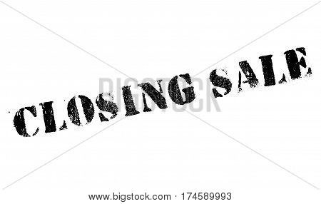 Closing Sale rubber stamp. Grunge design with dust scratches. Effects can be easily removed for a clean, crisp look. Color is easily changed.
