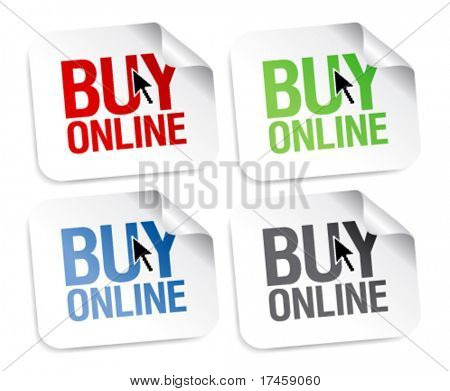 Buy online stickers set.