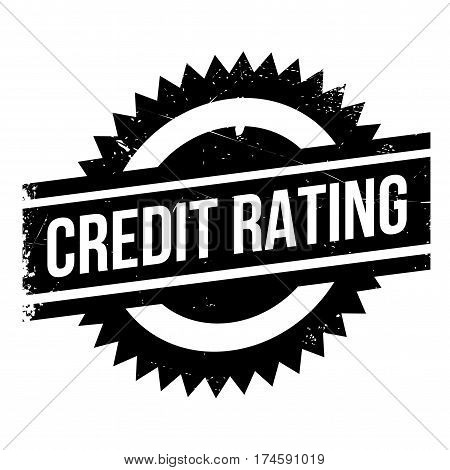 Credit Rating rubber stamp. Grunge design with dust scratches. Effects can be easily removed for a clean, crisp look. Color is easily changed.