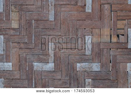 Closeup To Pattern Of Weaving Rattan Background