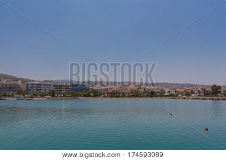 Rethymno, Greece - August  1, 2016:  Panoramic View To The City.